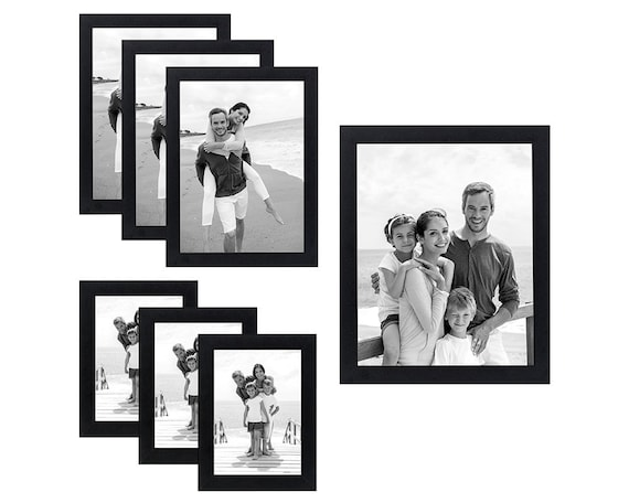 Americanflat 7 Pack Black Picture Frames Gallery Wall Set | Etsy