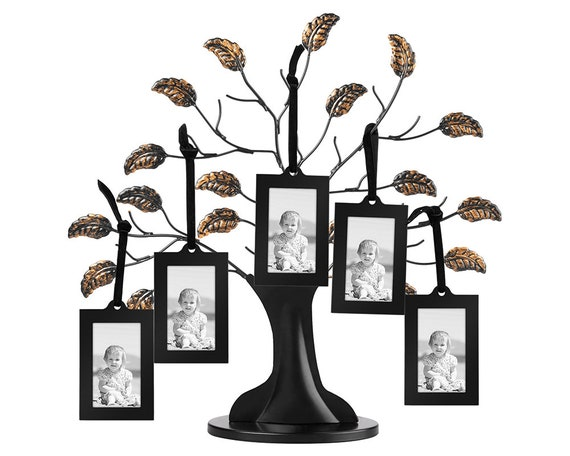Bronze Family Tree Frame with 6 Hanging Picture Frames Each   Etsy