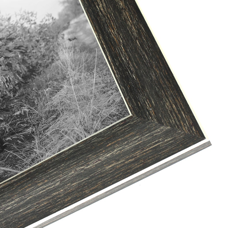 2 Pack 5x7 Barnwood Rustic Picture Frames with Easels Made for Wall and Tabletop Display