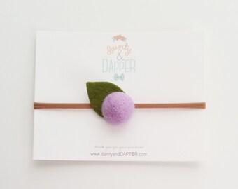 Lavender Flower Headband / Felt Flower Headband / Newborn Headband / Baby Flower Headband / Dainty Flower Headband / Baby Shower Gift