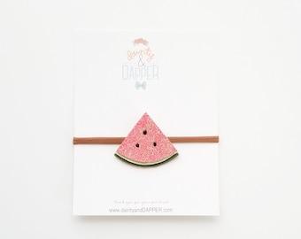 Watermelon Headband / Baby Watermelon Headband / Summer Baby Headband / Summer Headband / Photo Prop/ Gift for Girl / Watermelon Party