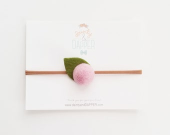 Flower Headband / Felt Flower Headband / Newborn Headband / Baby Flower Headband / Dainty Flower Headband / Newborn Photo Shoot Prop