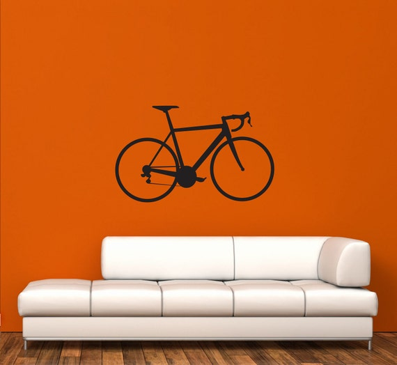 wall decal road bike stickercreepy goat graphics | etsy