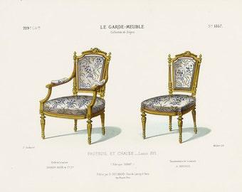 Louis Xvi Stoel : Louis xv fauteuil etsy