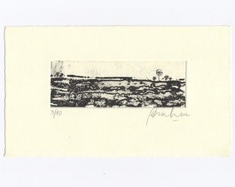 Abstract Etching Small Size Art