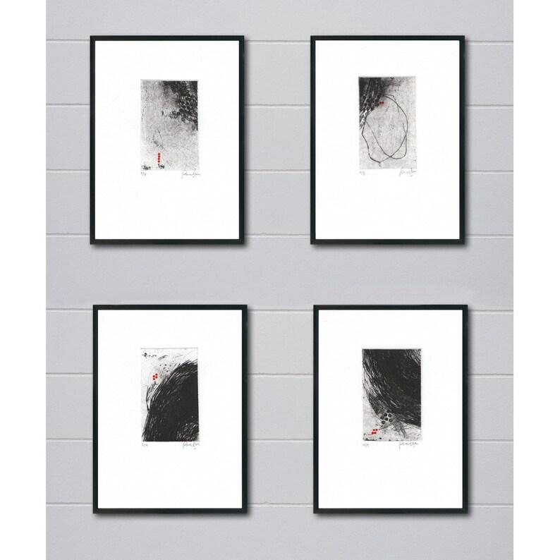 Abstract Printmaking Collection  Original Etching Print Set image 0
