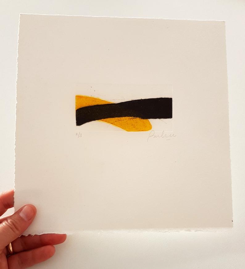 Original Small Printmaking Art Abstract Collograph Print