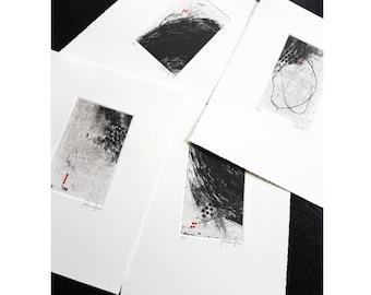 Abstract Printmaking Collection - Original Etching Print Set