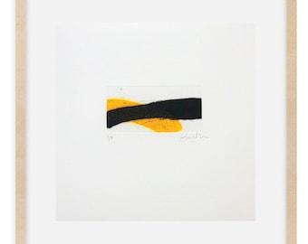 Abstract Collograph Print - Original Small Printmaking Art