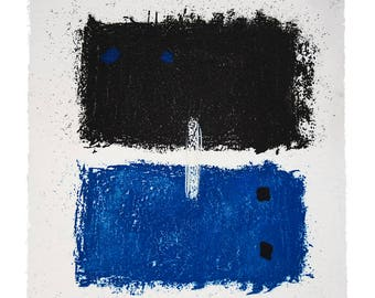Rothko Style Etching Print - Square Abstract Small Wall Art