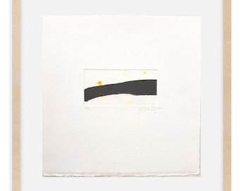 Collograph Print Original - Minimalist Fine Art Print - Small Painting
