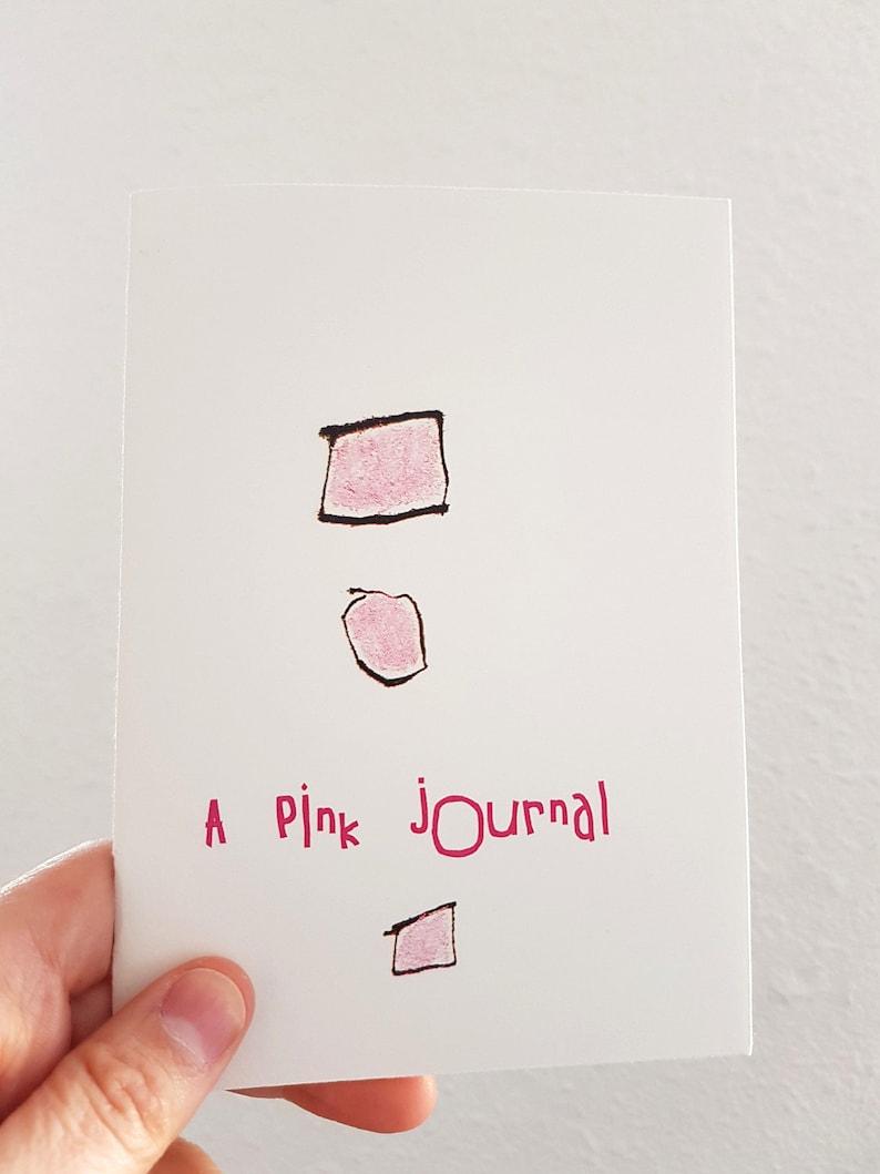 Pink Abstract Art Journal  Zine Art Small Book image 0