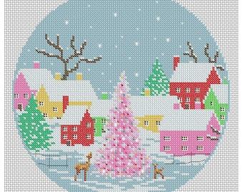 Pretty Christmas Village / PDF Cross Stitch Pattern