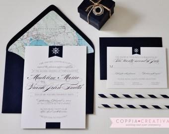 Nautical Wedding Invitation - Deposit to Get Started on Invitation Order