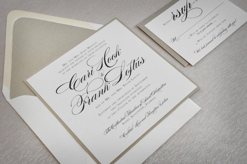 square wedding invitation traditional wedding formal