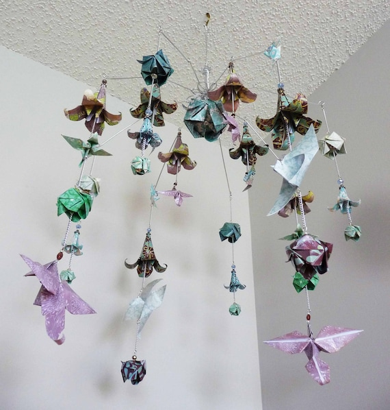 Wedding mobile origami mobile flower mobile hummingbirds etsy image 0 mightylinksfo