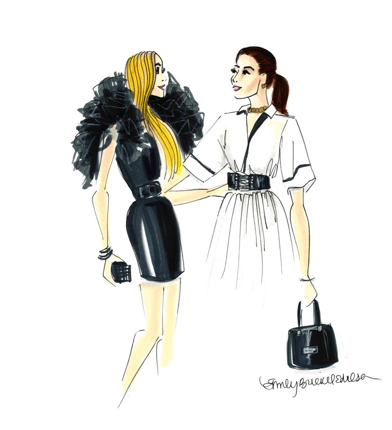 Fashion Illustration print Fashion Friends image 0