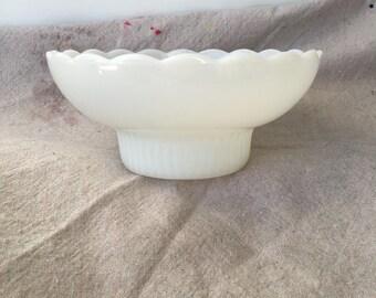 Vintage E.O. Brody Co. Milk Glass Bowl