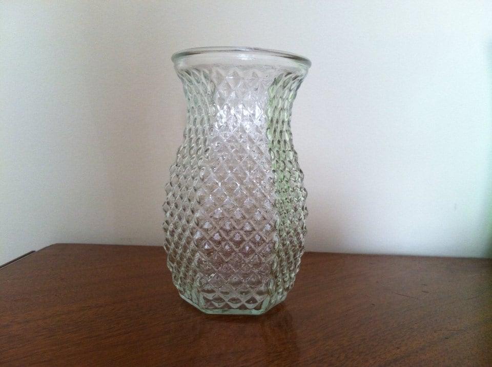 Vintage Hoosier Hob Nob Glass Vase 4071 Etsy