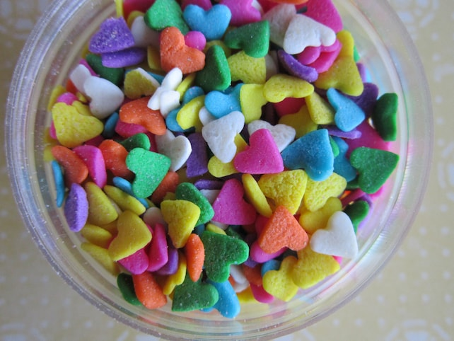 Candy Heart Confetti Quin Cupcake Sprinkles