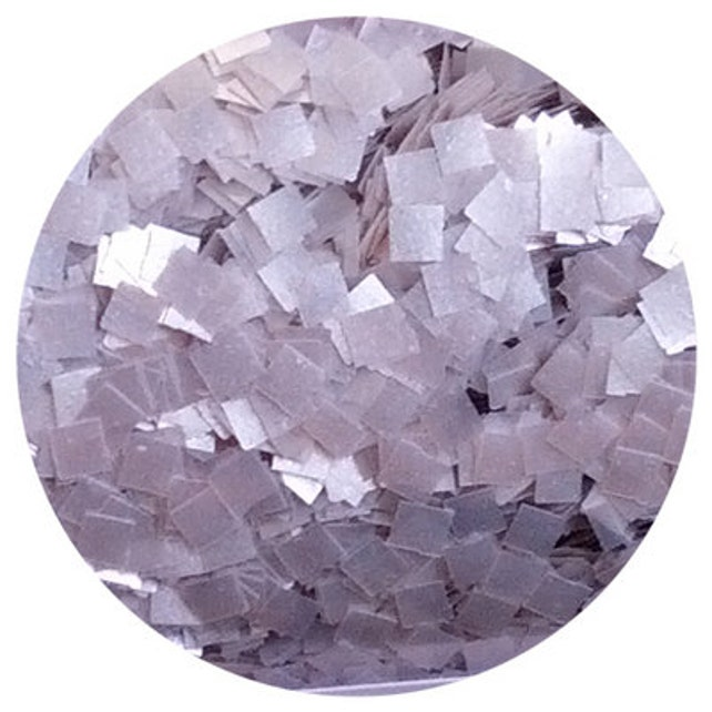 Silver Square Edible Glitter ~ Silver Metallic Square