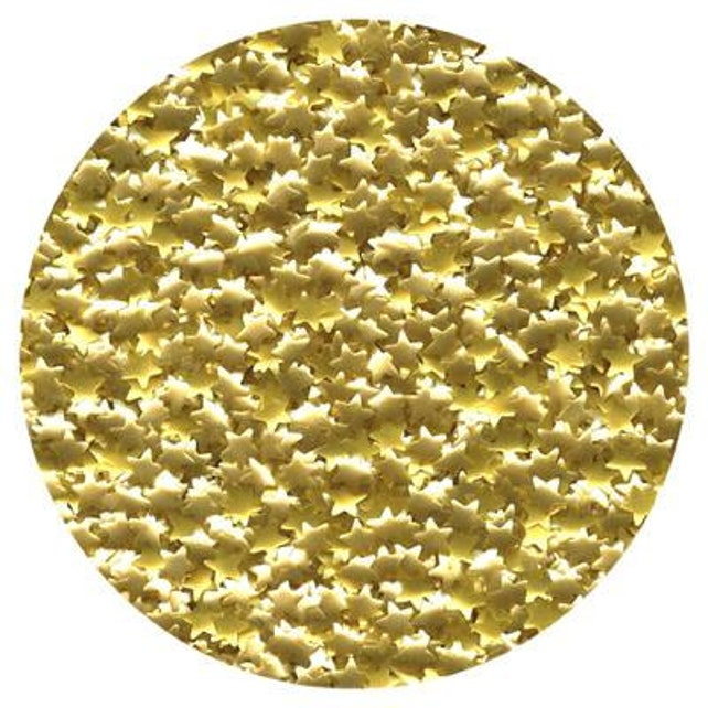 Gold Star Edible Glitter ~ Gold Metallic Star