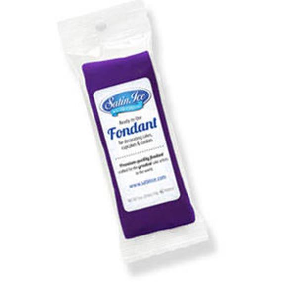 Purple Fondant ~ Satin Ice Fondant ~ 4oz Package ~ Cake Fondant ~ Modeling Fondant
