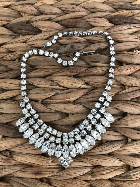 Vintage Rhinestone Choker rhinestone necklace crys