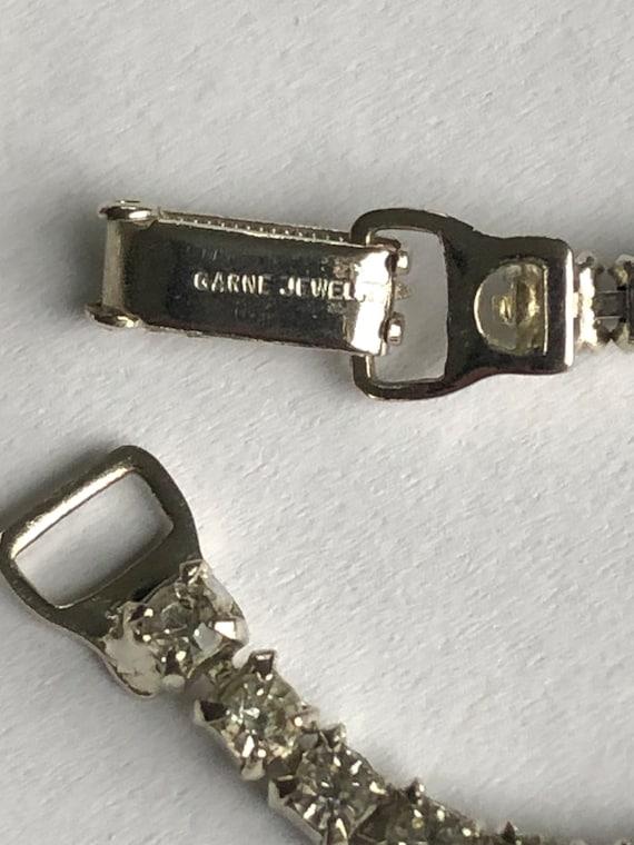 Vintage Rhinestone Choker rhinestone necklace Gar… - image 5