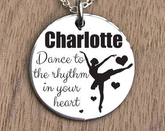 Dance Necklace, Ballerina Necklace, Ballet Necklace, Girls Dance Necklace, Dancer Necklace, Dancing Necklace, Ballet Girl Necklace, Gifts