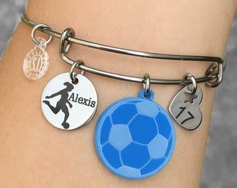 Soccer Gifts, Soccer Bracelet, Soccer Player Gifts, Soccer Players Bracelet, Soccer Jewelry, Gift for Soccer Player