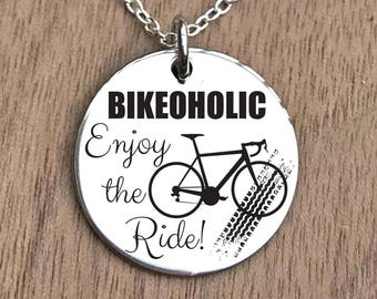 Cycling Necklace, Cycling Jewelry, Bicycle Necklace, Bicycle Jewelry, Bike Necklace, Bike Jewelry, Womens Cycling Gift, Bicycle Gifts