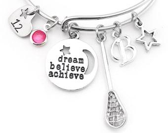 Lacrosse Bracelet, Lacrosse Gifts, Girls Lacrosse Gift, LAX gift, LAX bracelet, Lacrosse Jewelry, Lacrosse Team Gift, Lacrosse Player Gift