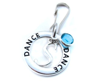 Dance Zipper Pull, Dance Gifts, Gift for Dancer, Dance Recital Gift, Dance Bag Charm, Dance Zipper Charm
