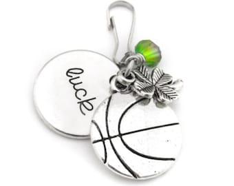 Basketball Gifts, Basketball Zipper Pull, Girls Basketball Gifts, Basketball Bag Charm, Basketball Player Gift, Basketball Team Gift
