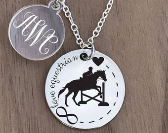 Equestrian Necklace, Equestrian Jewelry, Horse Necklace, Horse Jewelry, Horse Rider Necklace, Equestrian Gifts, Horse Gifts,Horse Rider Gift