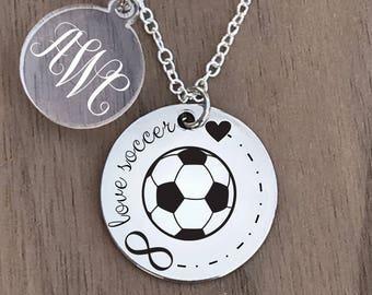 Soccer Necklace, Soccer Jewelry, Soccer Necklace for Girl, Soccer Charm Necklace, Girls Soccer Necklace, Girls Soccer Gifts, Soccer Gifts