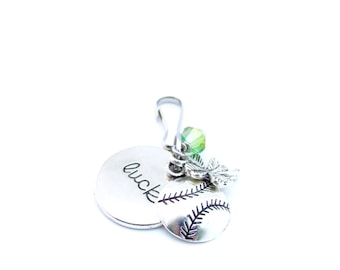 Softball Gifts, Softball Zipper Pull, Softball Bag Tag, Gifts For Softball Player, Softball Party Favors, Softball Accessories, Keychain