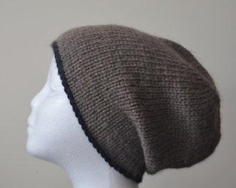 09768f98238 Men s Alpaca Knit Hat   Baby Alpaca Winter Knitted Beanie