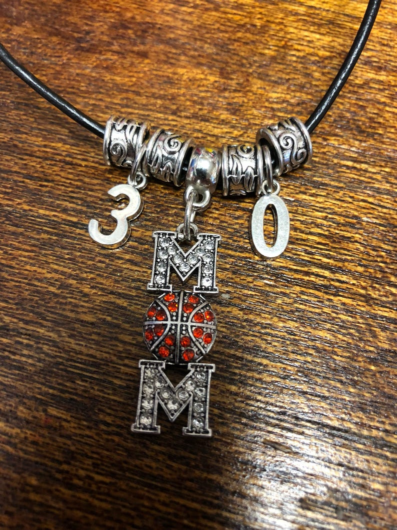 Sports Mom Jersey Necklace