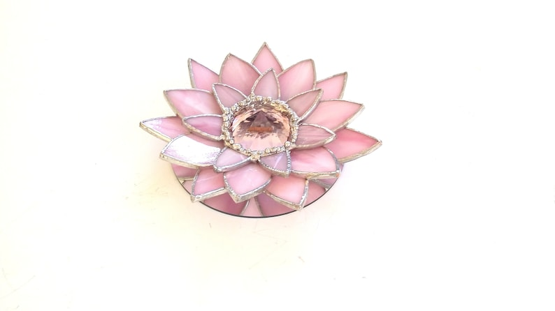 Stained Glass Lotus Blossom Decor Etsy