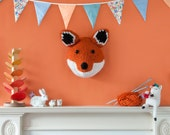 GIANT *Fox Head Knitting Pattern* - Make Your Own Forest Friend - Taxidermy Trophy Head Pattern by Sincerely Louise