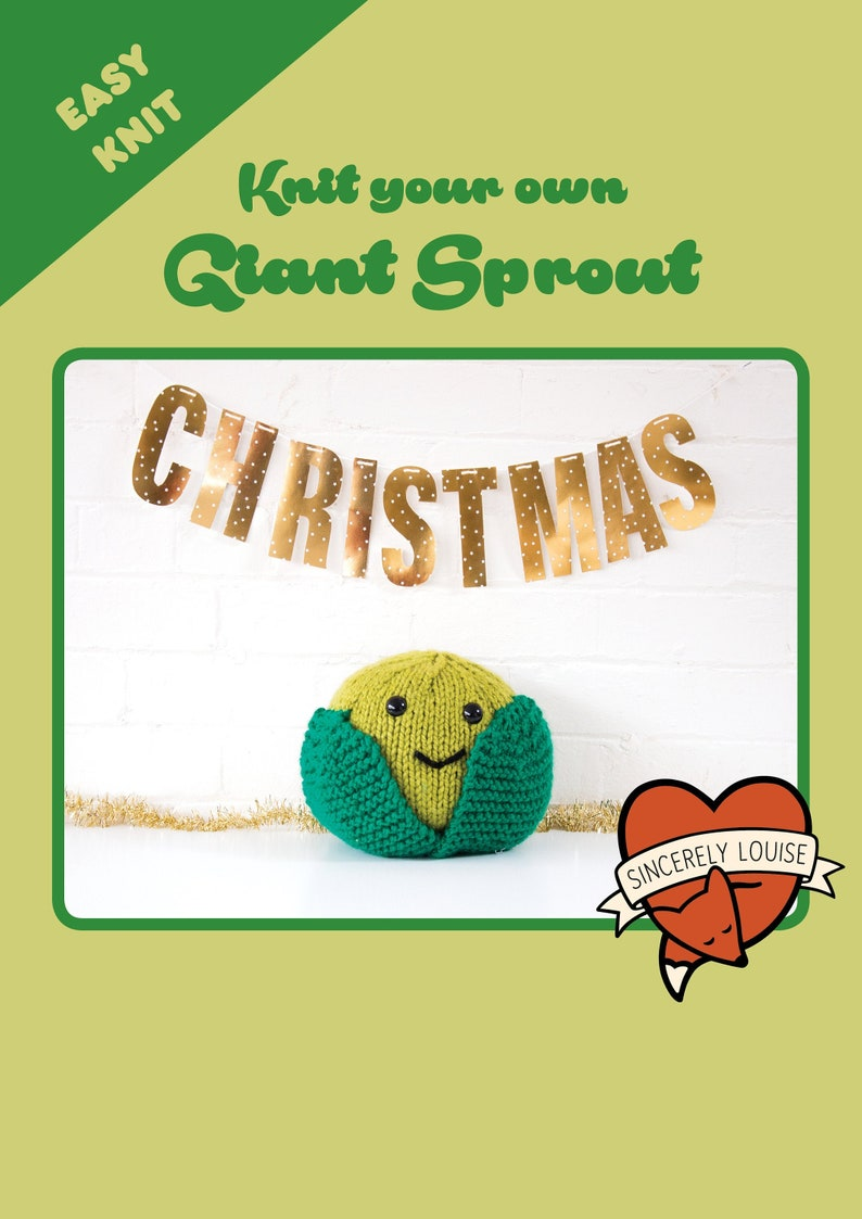 Giant Sprout  Digital PDF Knitting Pattern image 0