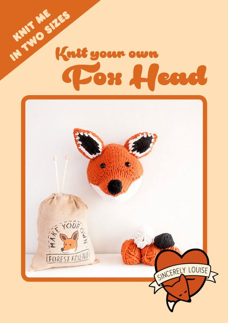Fox Head  Digital PDF knitting pattern image 0