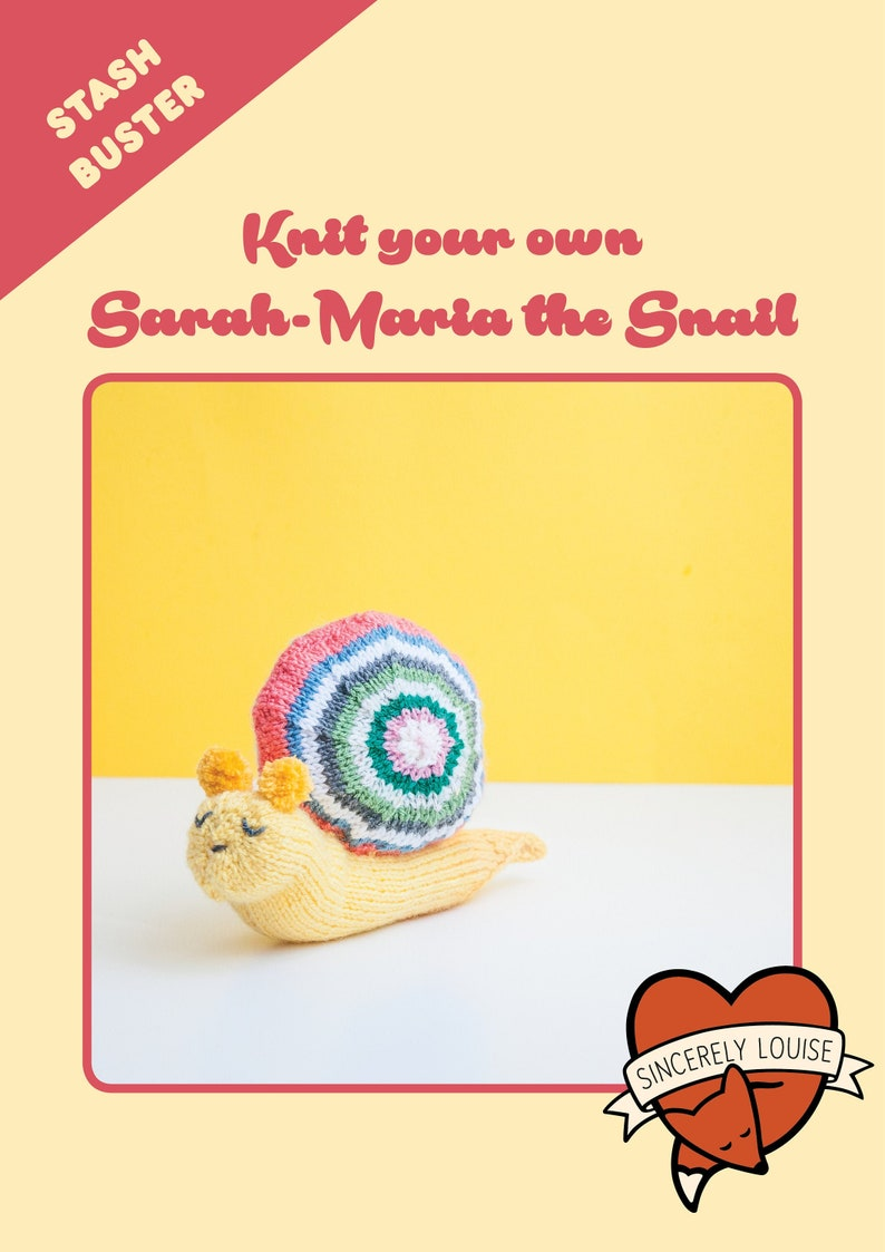 Sarah Maria the Snail PDF Knitting Pattern image 0