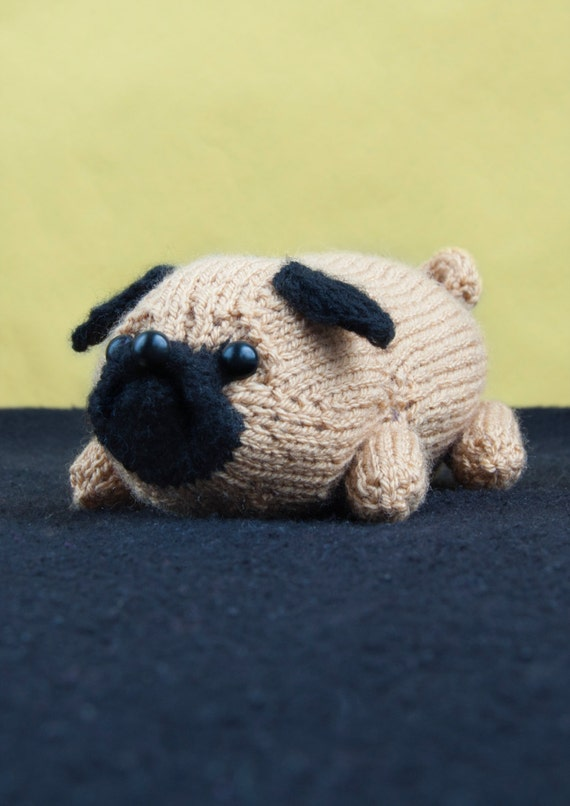 PDF Pattern Jolly The Pug Toy Dog Amigurumi DK Knitting | Etsy