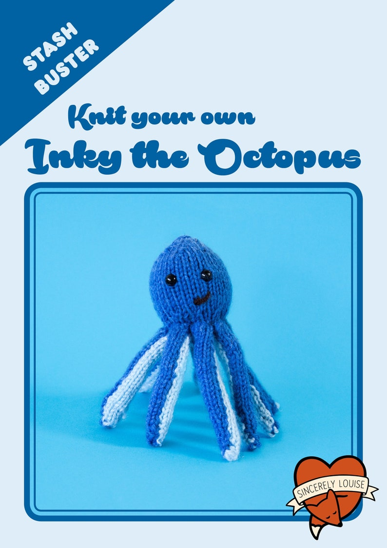 Inky the Octopus PDF Knitting Pattern image 0