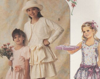 Girls Party Dress Pattern McCalls 5381 Sizes 10 - 14 Uncut