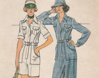 Awesome 70s Jumpsuit or Playsuit Pattern Vogue 9174 Size 10