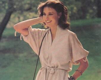 80s Simple Summer Dress Pattern Butterick 4265 Size 16 Uncut